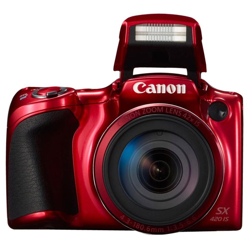 Canon PowerShot SX420 IS Digital Camera Red, Red, large