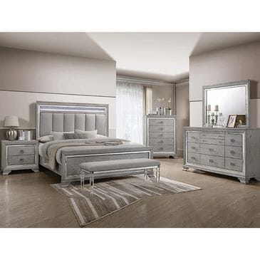 Claremont Vail King Bed in Gray, , large