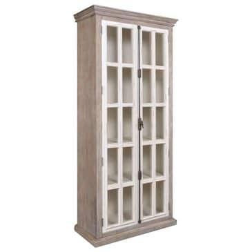Sunset Bay Florence 2-Door Bookcase in Gray and White, , large