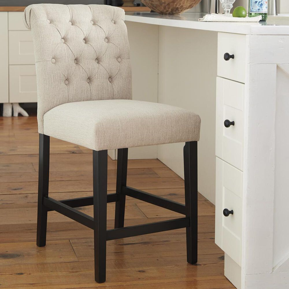 """Signature Design by Ashley Tripton Upholstered 24"""" Counter Stool in Linen, , large"""