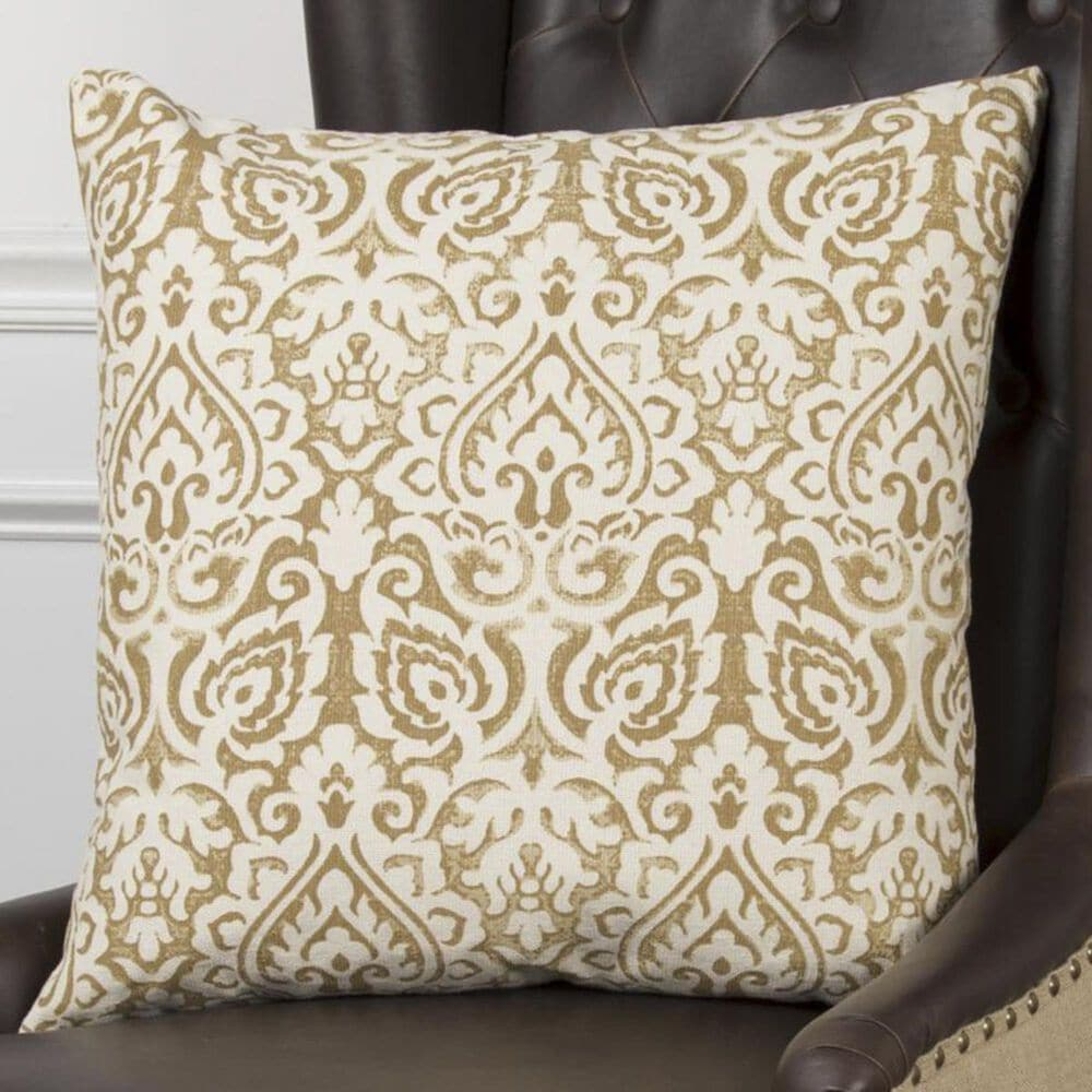 """Rizzy Home 22"""" x 22"""" Pillow Cover in Gold and White, , large"""