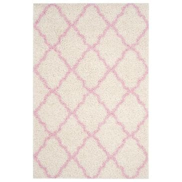 Safavieh Dallas Shag SGD257P 3' x 5' Ivory and Light Pink Area Rug, , large