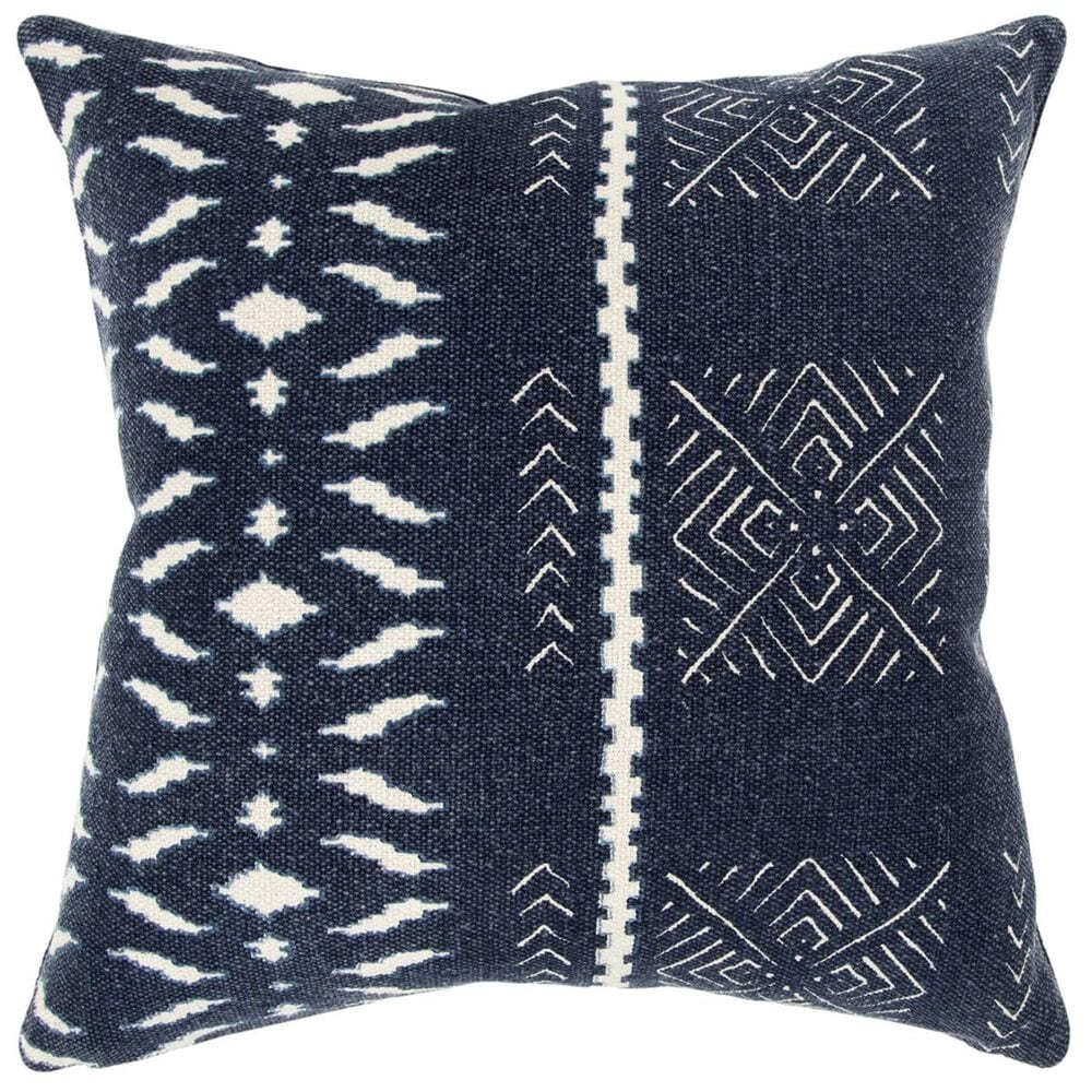 """37B Donny Osmond 20"""" x 20"""" Pillow Cover in Indigo Blue and White, , large"""