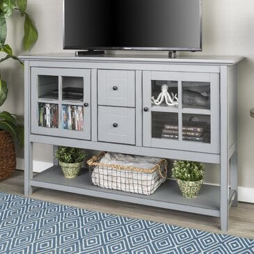 """Walker Edison 52"""" TV Stand/Buffet in Antique Grey, , large"""