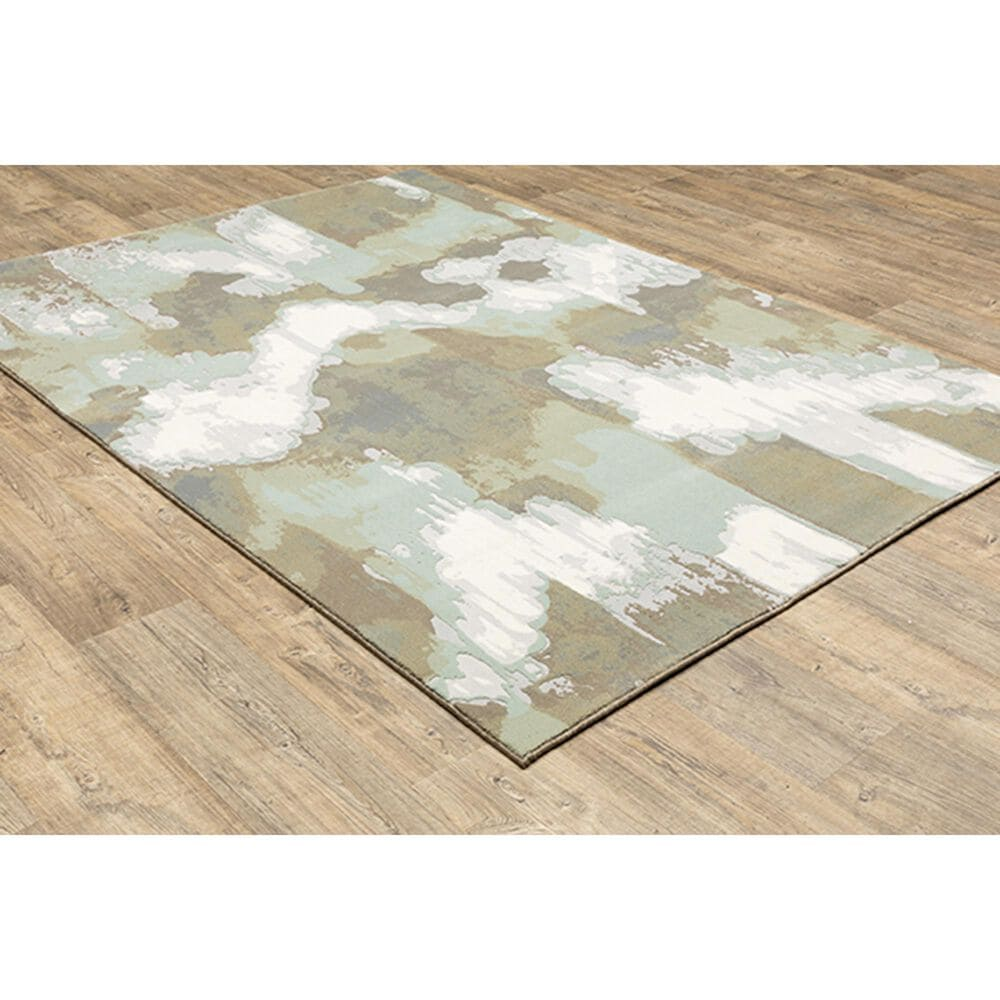 """Oriental Weavers Capistrano Abstract 539C1 7'10"""" x 10'10"""" White Area Rug, , large"""