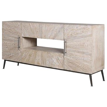 """Simeon Collection Crossings Monaco 69"""" TV Console in Weathered Blanc, , large"""