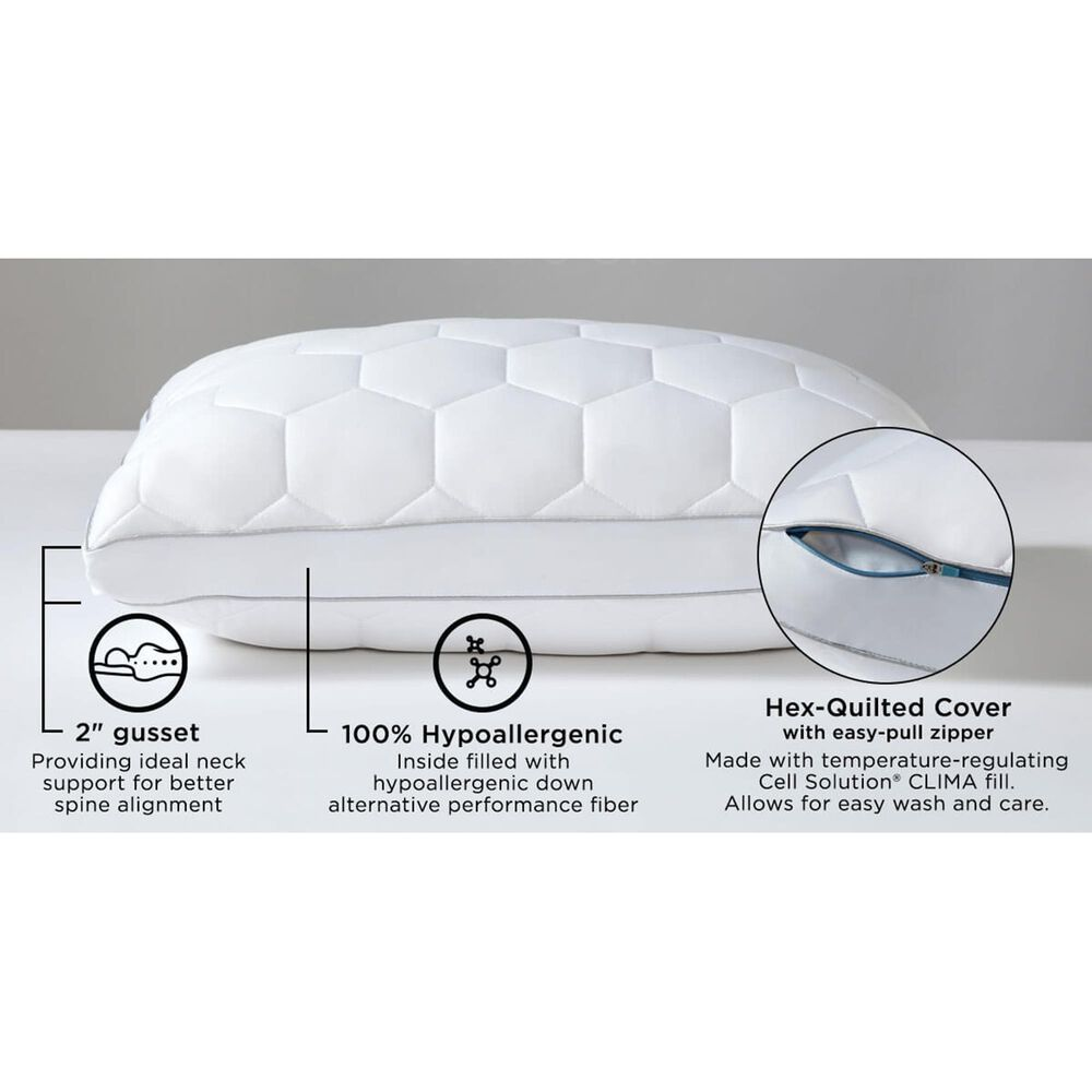SHEEX Ven-Tech King Side Sleeper Pillow in Bright White, , large
