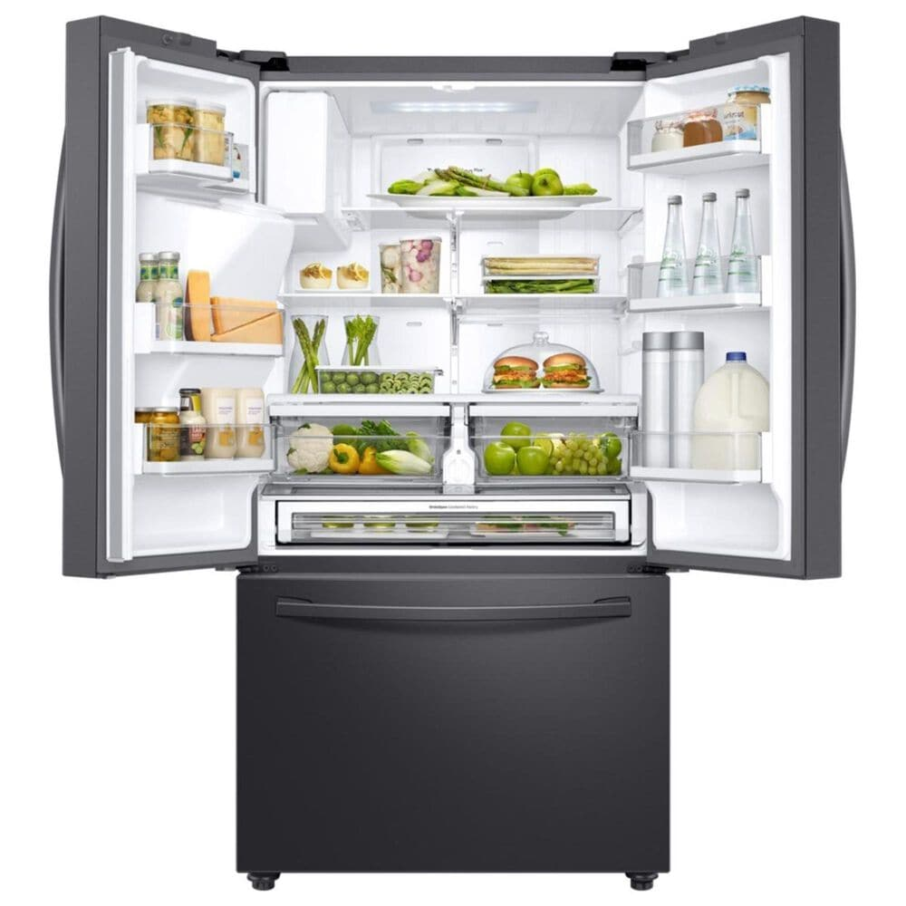 Samsung 22.6 Cu. Ft. Counter-Depth French Door Refrigerator in Black Stainless Steel, , large