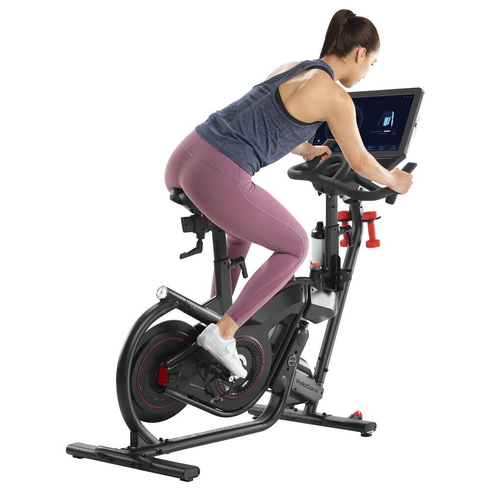 "Bowflex VeloCore Bike in Black with 22"" Screen + Equipment Mat, , large"