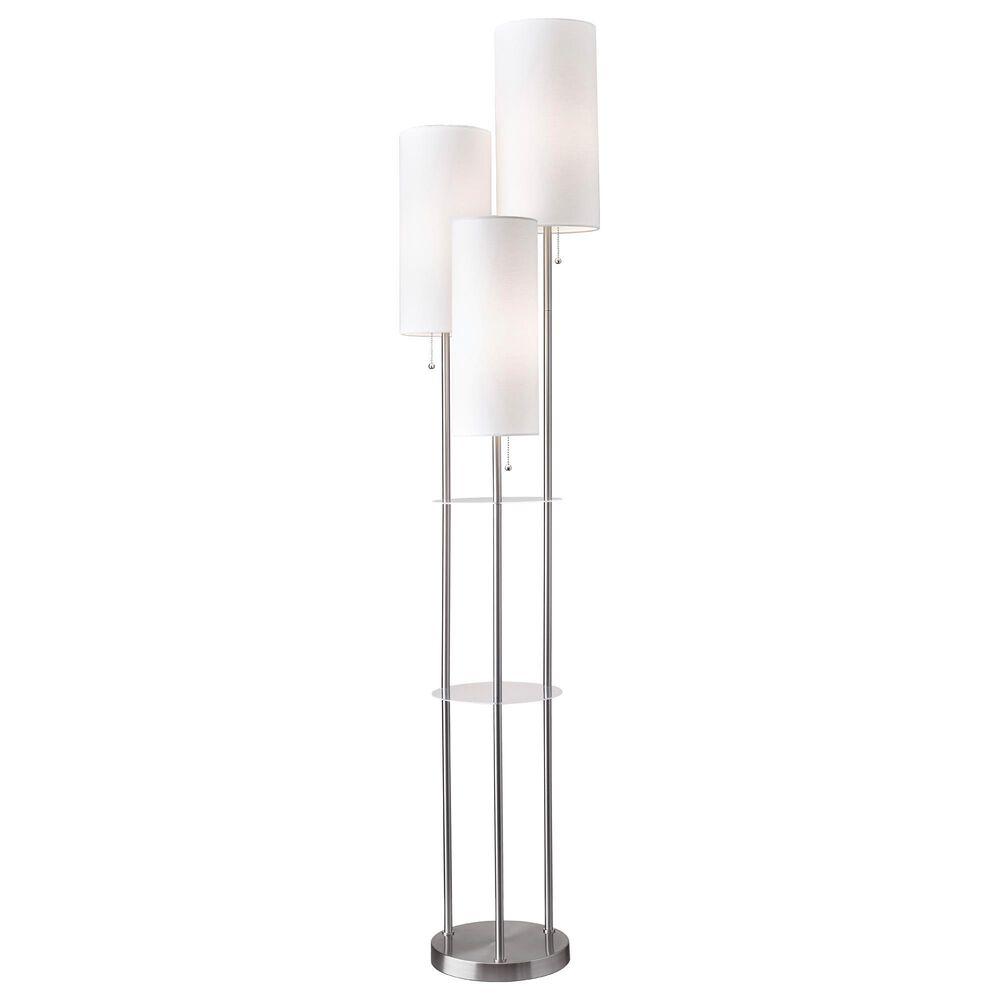 Adesso Trio Floor Lamp in Brushed Steel, , large