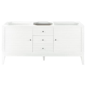 """James Martin Linear 59"""" Double Vanity Cabinet in Glossy White, , large"""