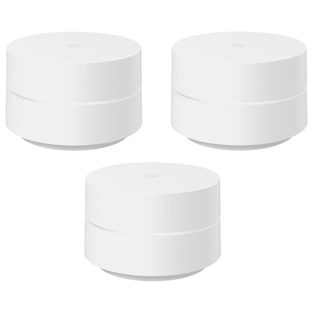Google Whole Home Wi-Fi System 3-Pack in White, , large