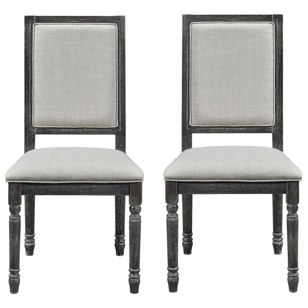 Tiddal Home Muses Upholstered Back Chair in Weathered Pepper (Set of 2), , large