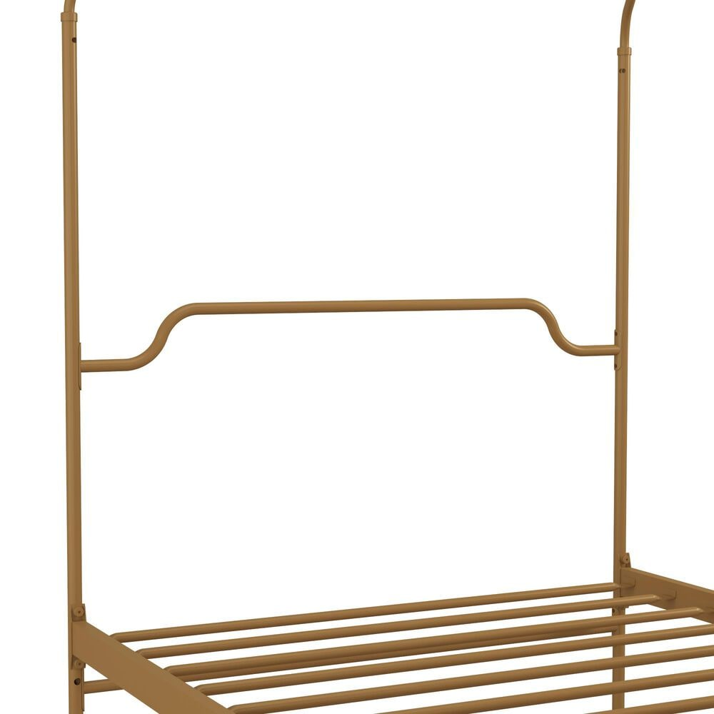 Novogratz Camilla Twin Canopy Bed in Gold, , large