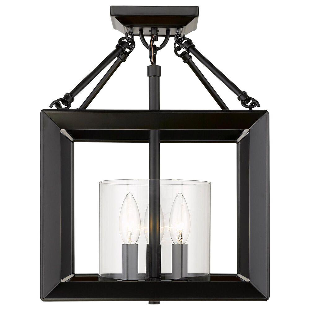 Golden Lighting Smyth Semi-Flush in Matte Black, , large