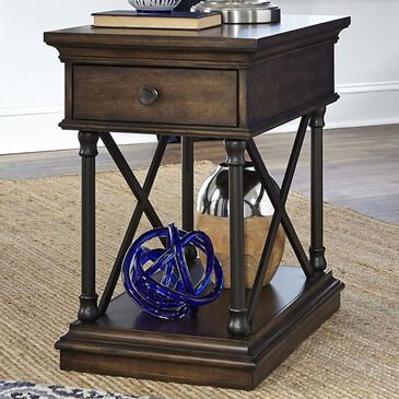 Belle Furnishings Tribeca Chairside Table in Cordovian Brown, , large