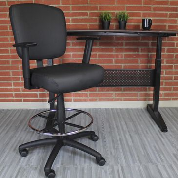 Regal Co. Boss Oversized Drafting Stool in Black, , large
