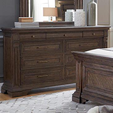 Chapel Hill Bedford Heights 9 Drawer Dresser in Estate Brown, , large