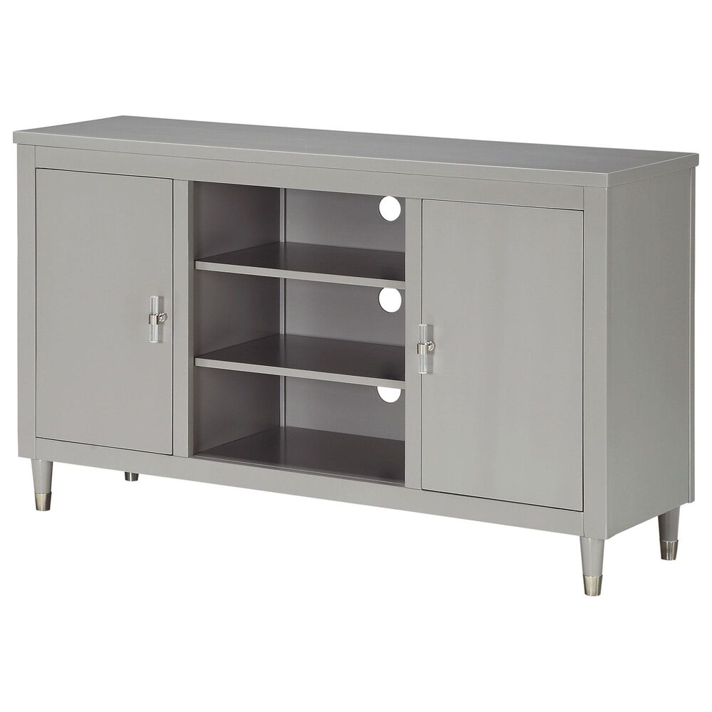 Accentric Approach 2-Door TV Console in Gray, , large
