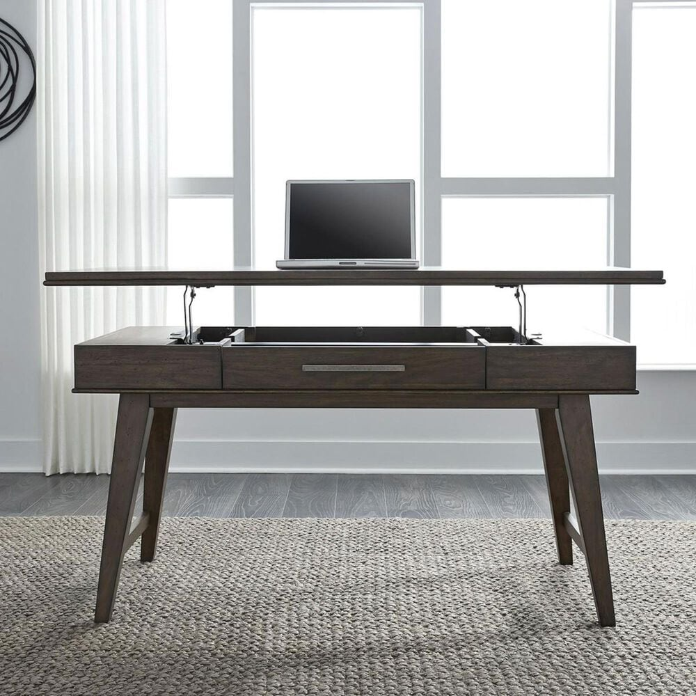 Belle Furnishings Ventura Boulevard Lift Top Writing Desk in Bronze Spice, , large