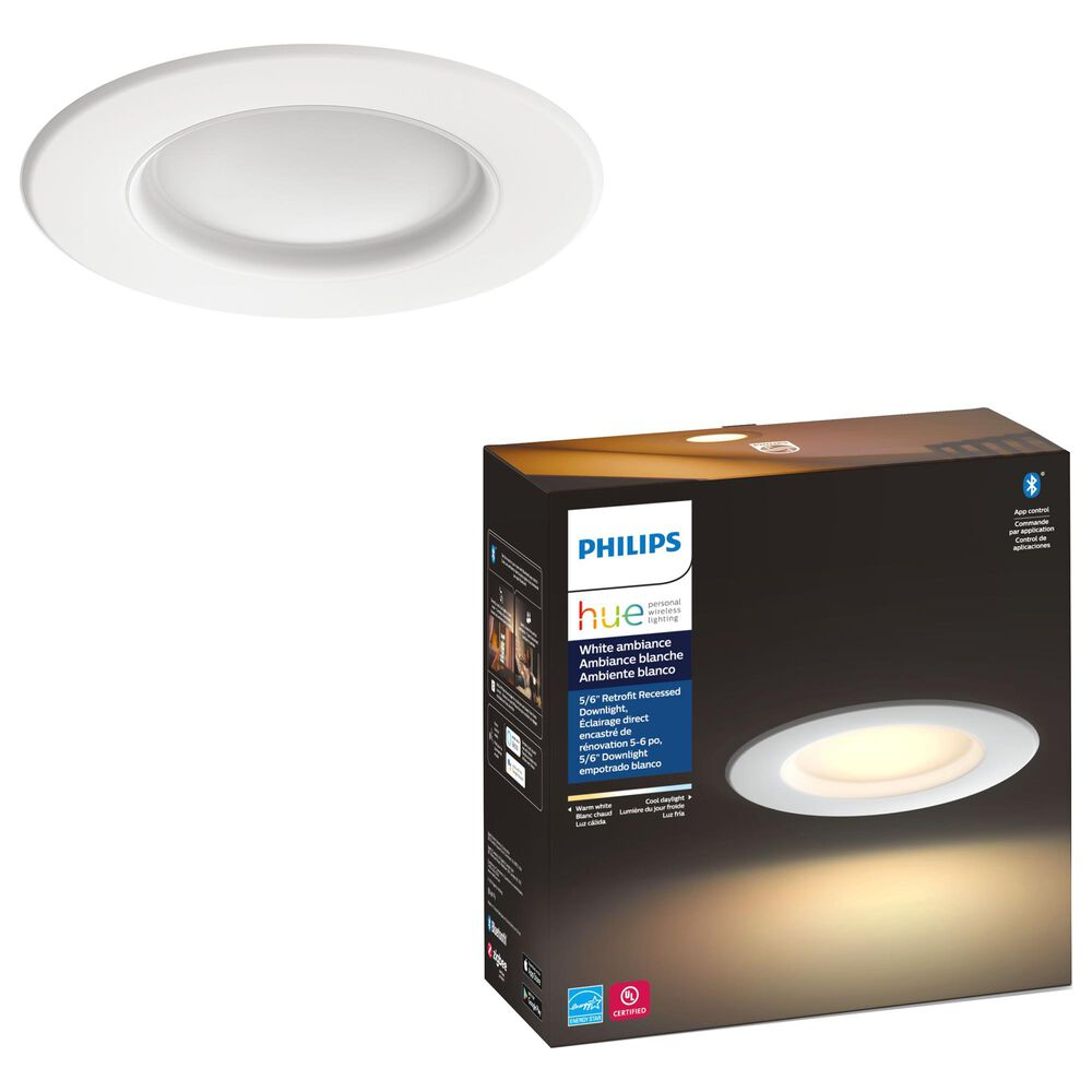 "Philips Hue 5/6"" White Ambiance Recessed Downlight in White, , large"