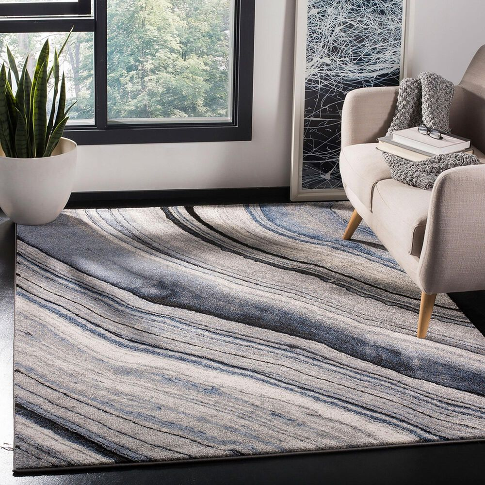"Safavieh Spirit 5'3"" x 7'6"" Blue and Gray Area Rug, , large"