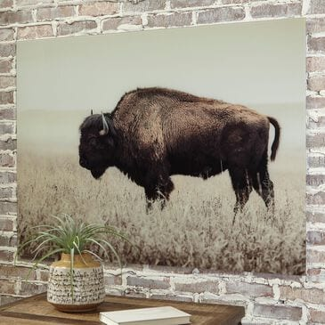 """Signature Design by Ashley Brutus 36"""" x 48"""" The Bison Wall Art in Sepia, , large"""