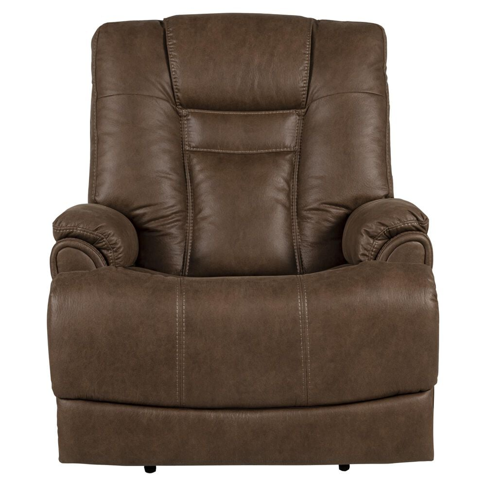 Flexsteel Marley Big and Tall Power Headrest and Lumbar Recliner in Tan, , large