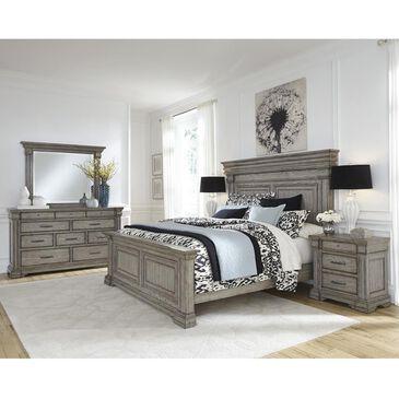 Chapel Hill Madison Ridge 4-Piece Queen Panel Bedroom Set in Bluff Gray, , large