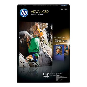HP 100 Sheets Advanced Glossy Photo Paper, , large