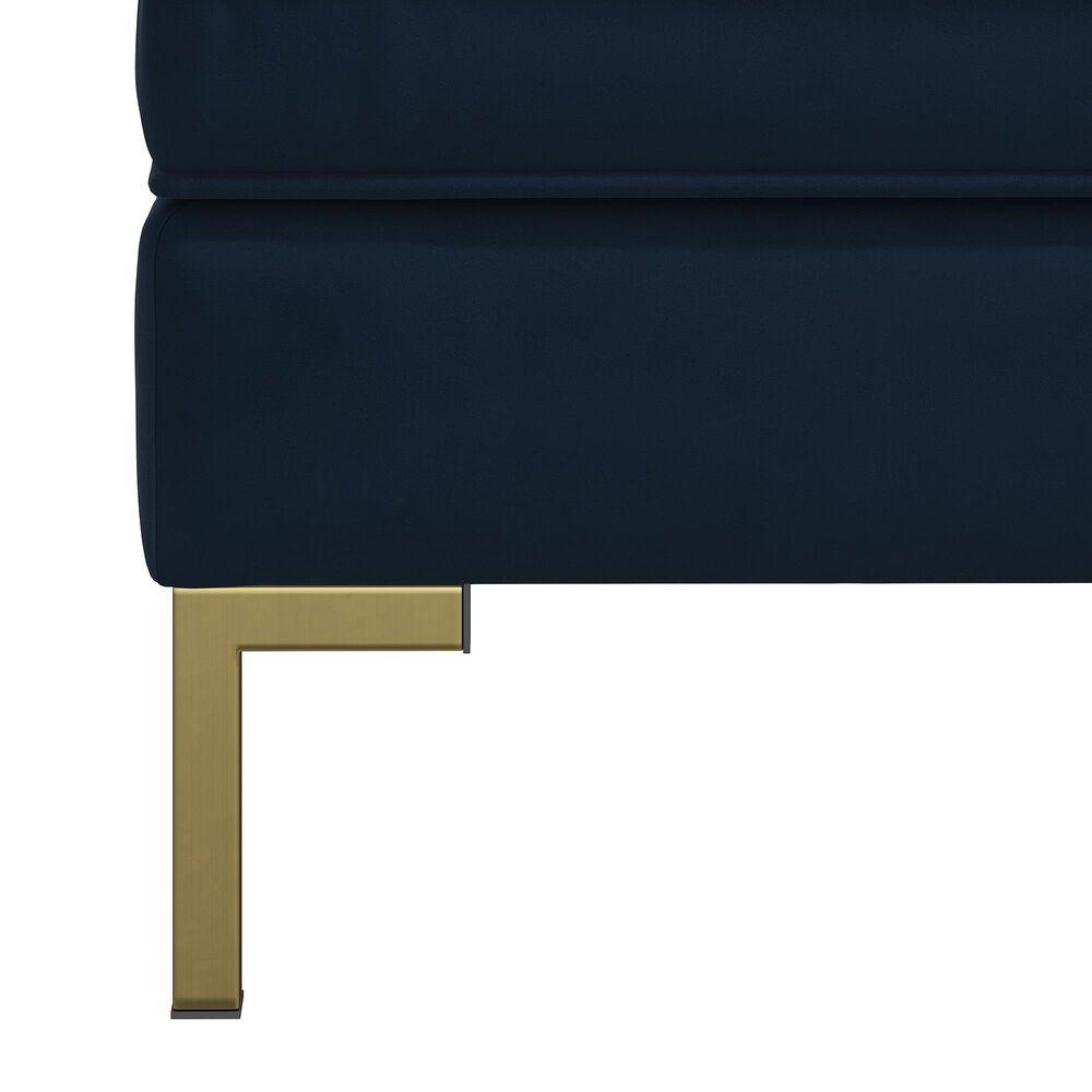 Skyline Furniture Upholstered Ottoman in Velvet Ink, , large