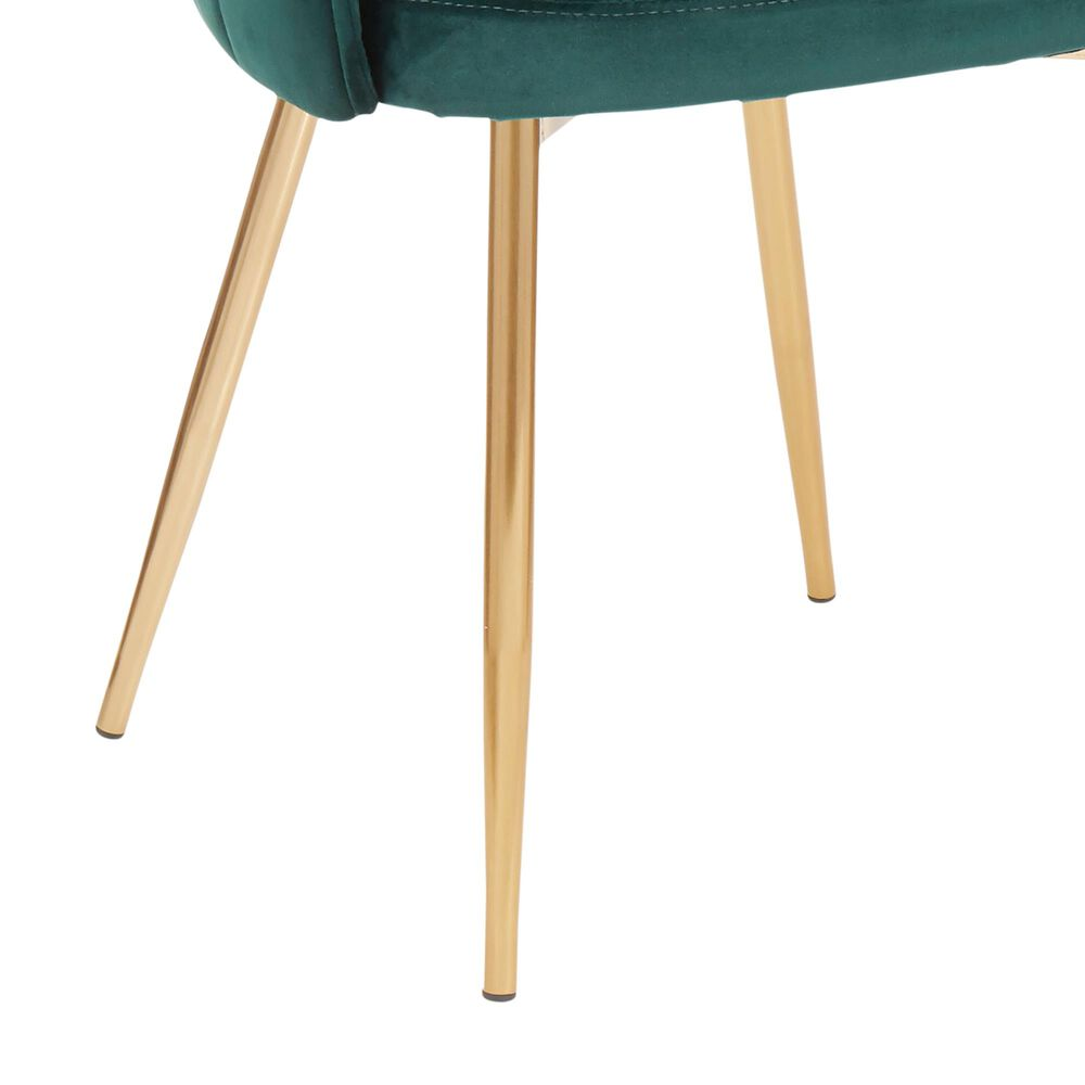 Lumisource Lindsey Chair in Green Velvet and Gold, , large