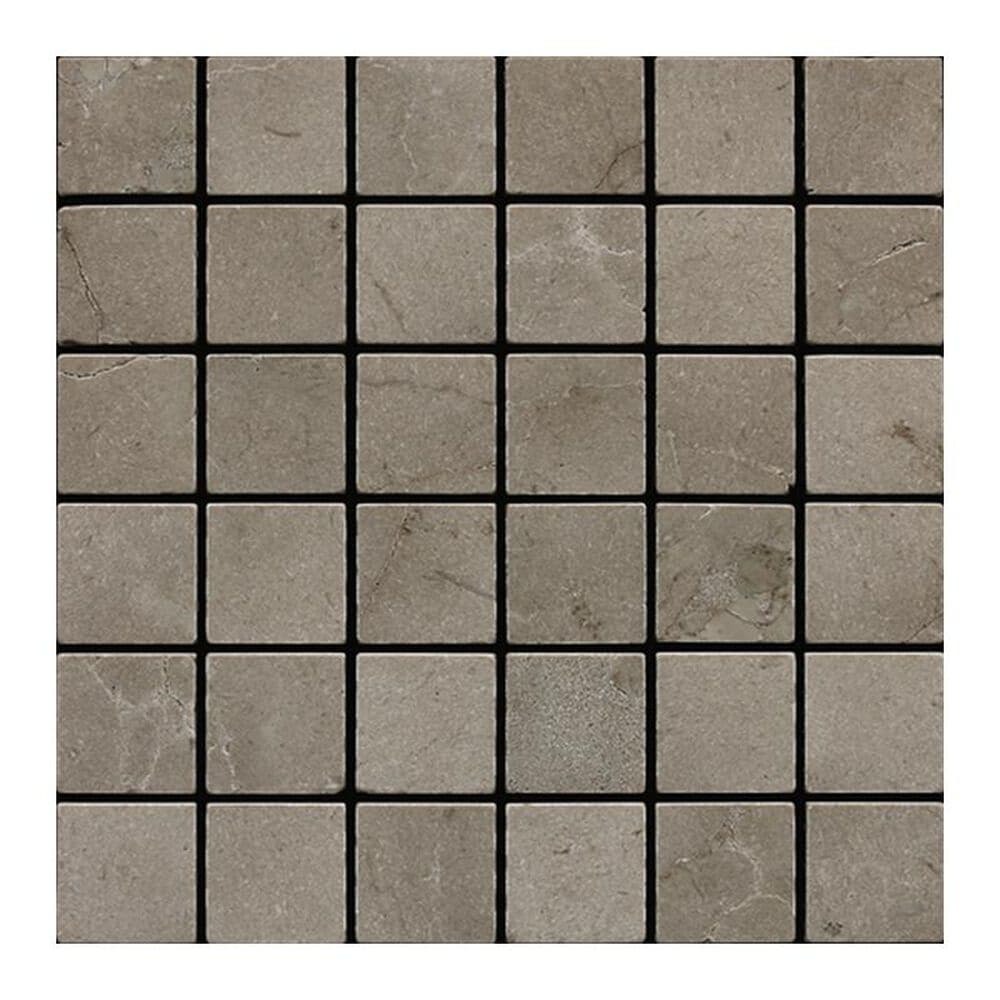 """Dal-Tile 2"""" x 2"""" Tumbled Mosaic Tile in Silver Screen, , large"""