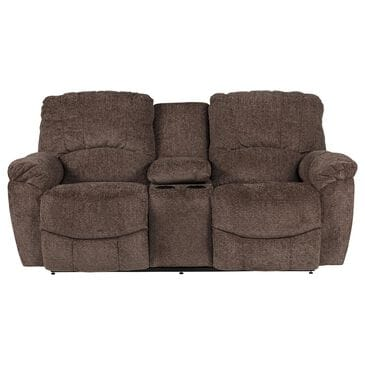 La-Z-Boy Reclining Console Motion Loveseat in Chocolate, , large