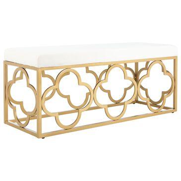 Safavieh Fleur Bench in Creme/Gold, , large