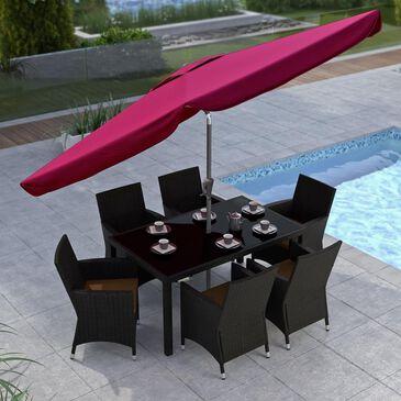 CorLiving Tilting Patio Umbrella in Wine Red, , large