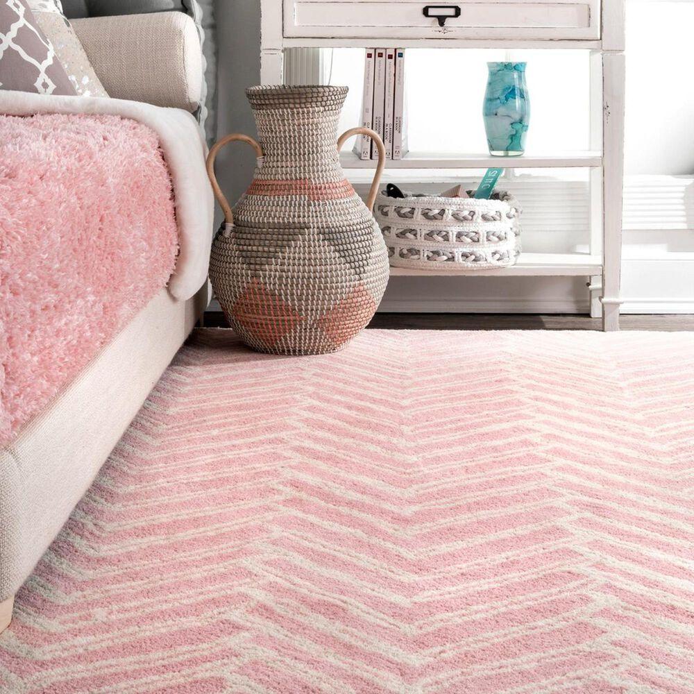 nuLOOM Varanas MTVS39C 5' x 8' Pink Area Rug, , large