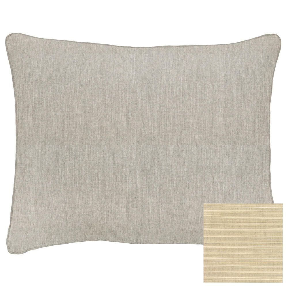 """Sorra Home 22"""" x 27"""" Pillow in Dupione Sand, , large"""