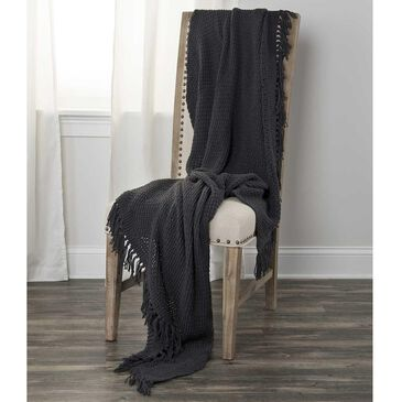 "Rizzy Home 50"" x 60"" Oversized Throw in Dark Gray, , large"