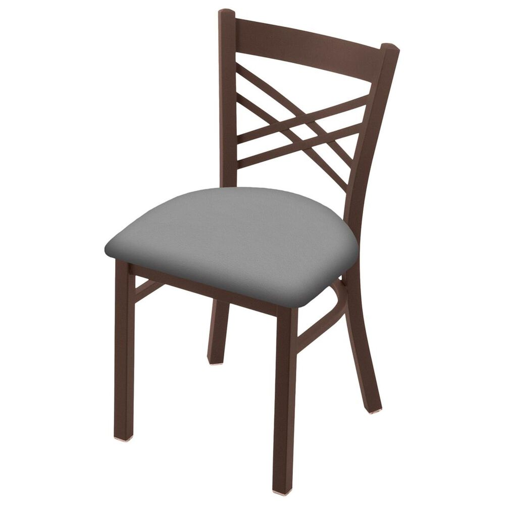"""Holland Bar Stool 620 Catalina 18"""" Chair with Bronze and Canter Folkstone Grey Seat, , large"""