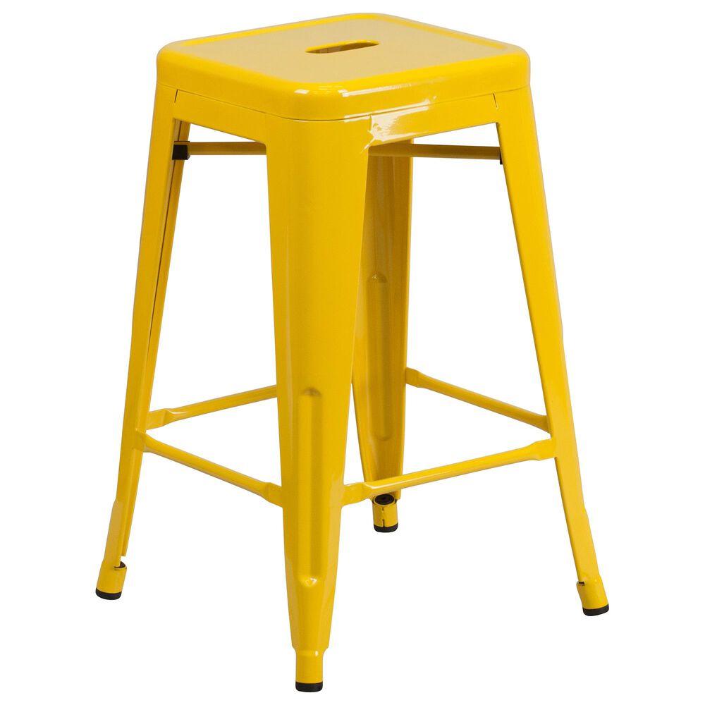 "Flash Furniture 24"" Counter Stool in Yellow, , large"