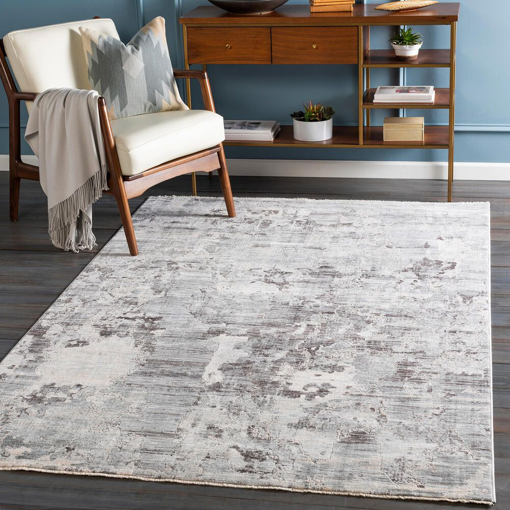 """Surya Presidential PDT-2314 7'9"""" x 10'3"""" Blue, Gray and Ivory Area Rug, , large"""