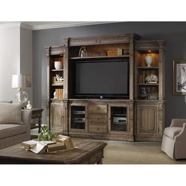 Hooker Furniture Sorella 4-Piece Entertainment Center in Taupe, , large