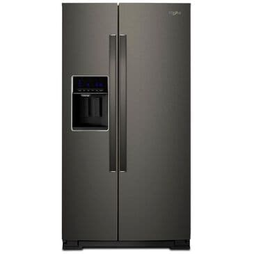Whirlpool 28 Cu. Ft. 36-Inch Wide Side-by-Side Refrigerator in Black Stainless, , large