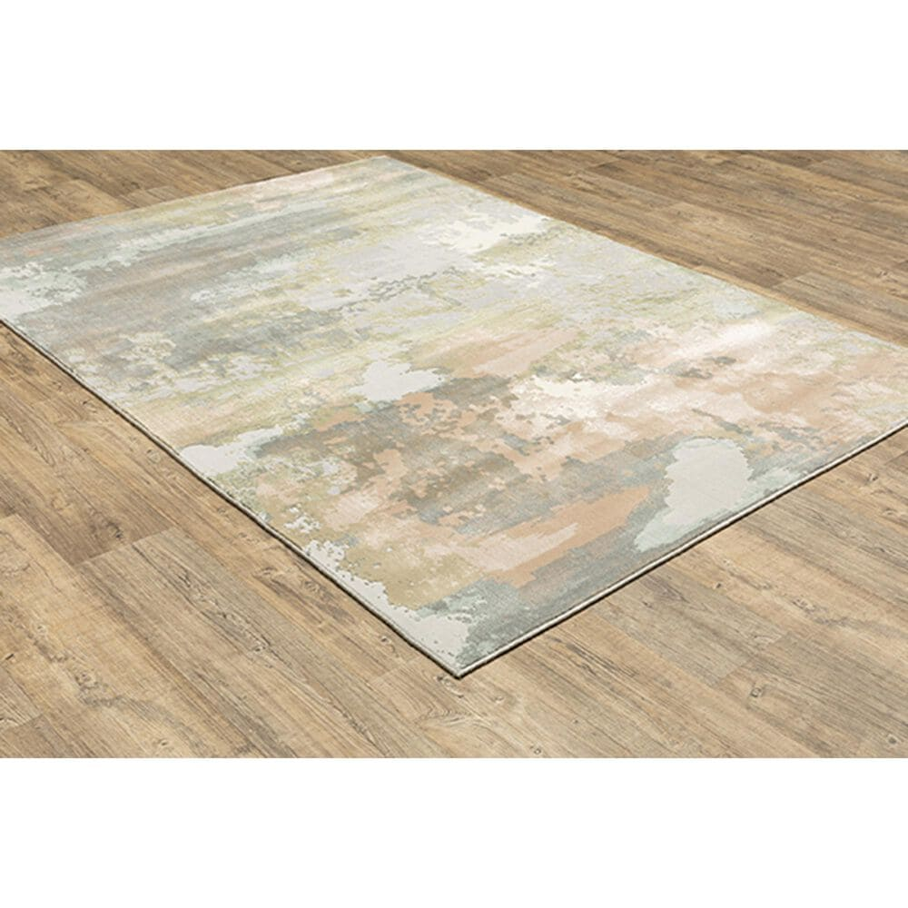 """Oriental Weavers Capistrano Abstract 536A1 9'10"""" x 12'10"""" Gray Area Rug, , large"""
