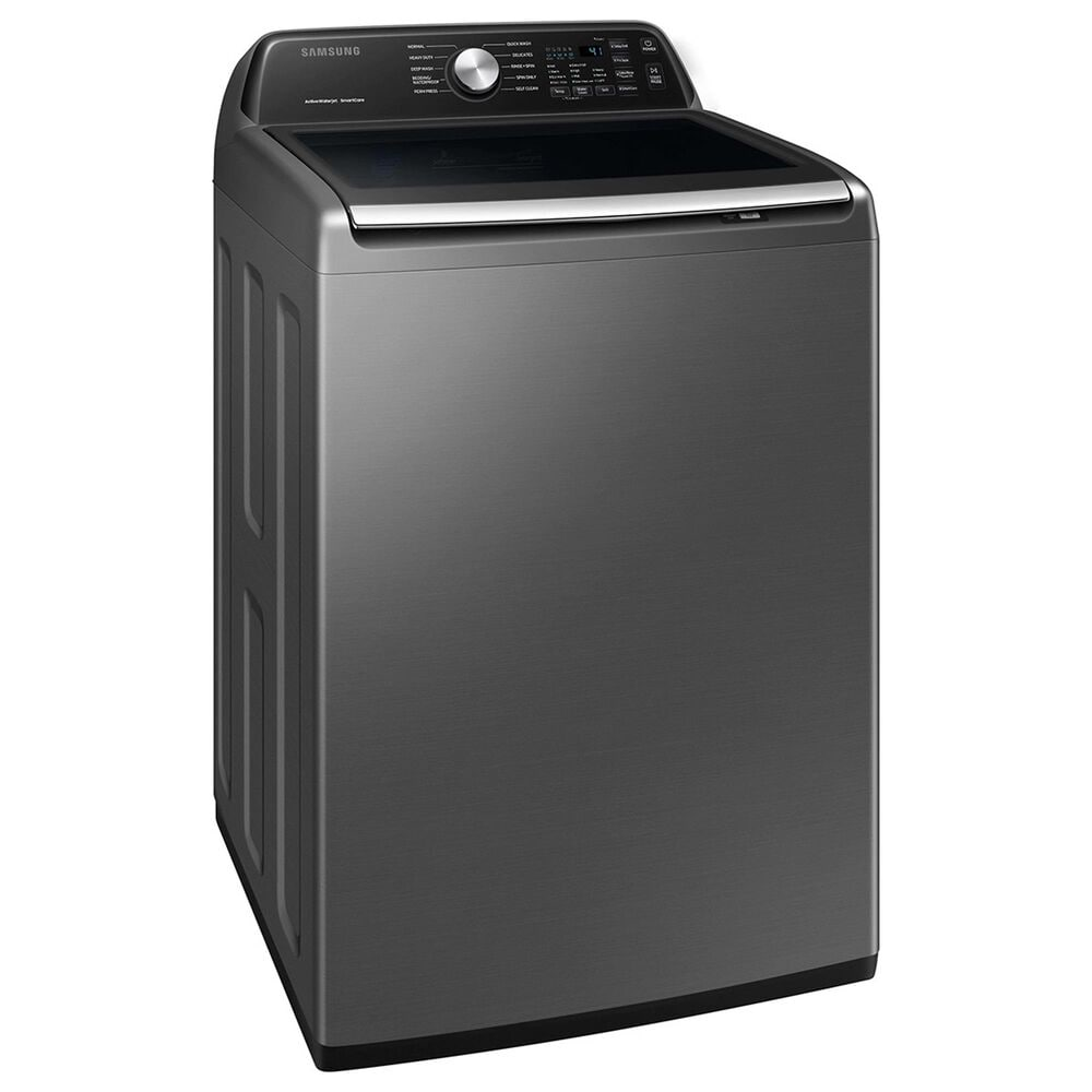 Samsung 4.4 Cu. Ft. Top Load Washer and 7.4 Cu. Ft. Electric Dryer Laundry Pair in Platinum, , large