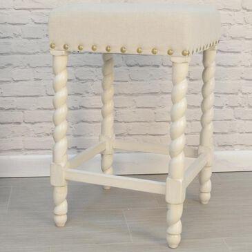 "Carolina Cottage Kelsey 24"" Counter Stool in Vintage White and Linen, , large"