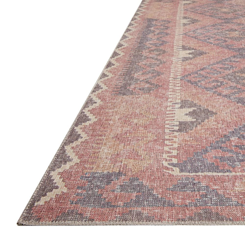 ED Ellen DeGeneres Crafted by Loloi Alameda ALA-04 2' x 5' Red and Navy Area Rug, , large