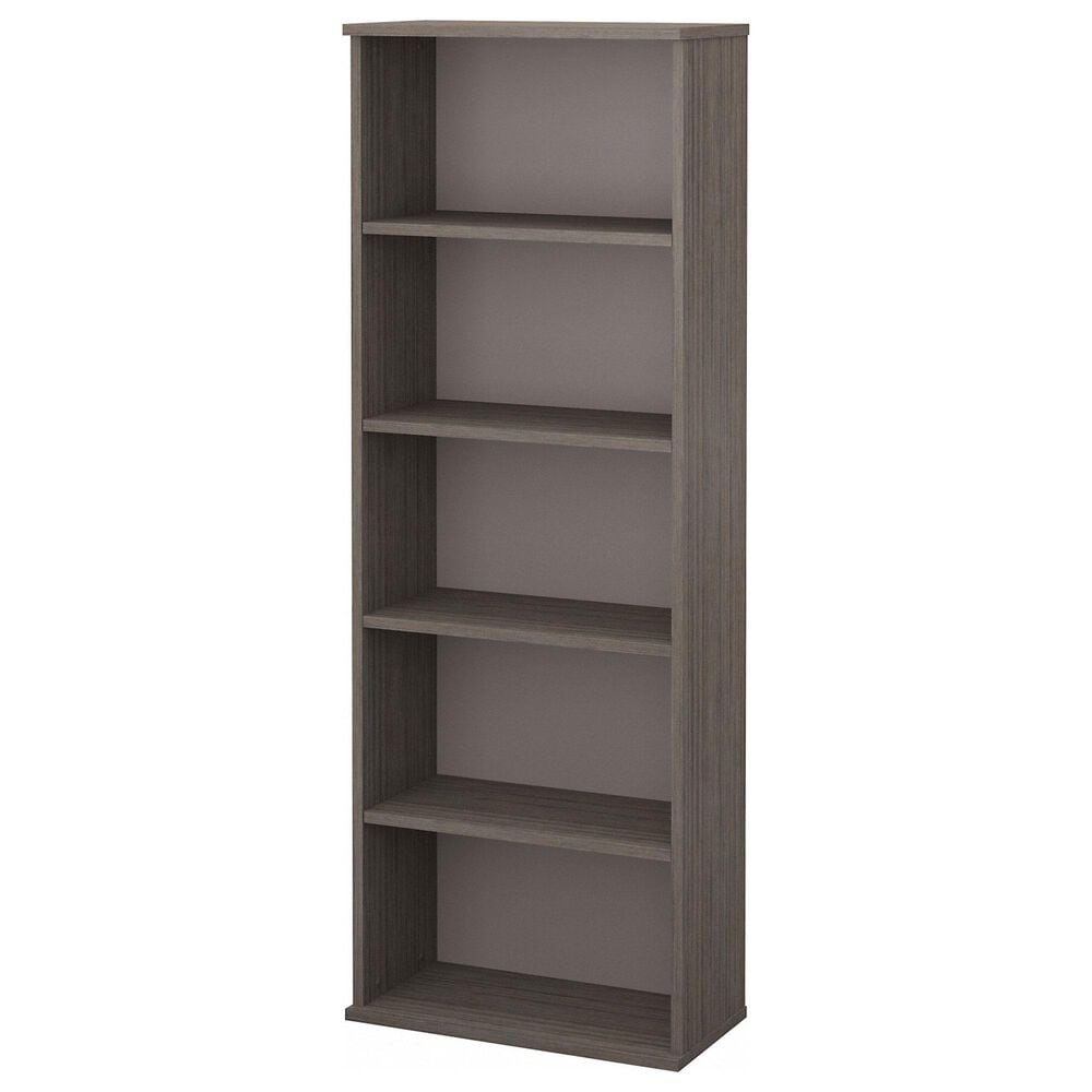 Bush 5-Shelf Bookcase in Cocoa/Pewter, , large