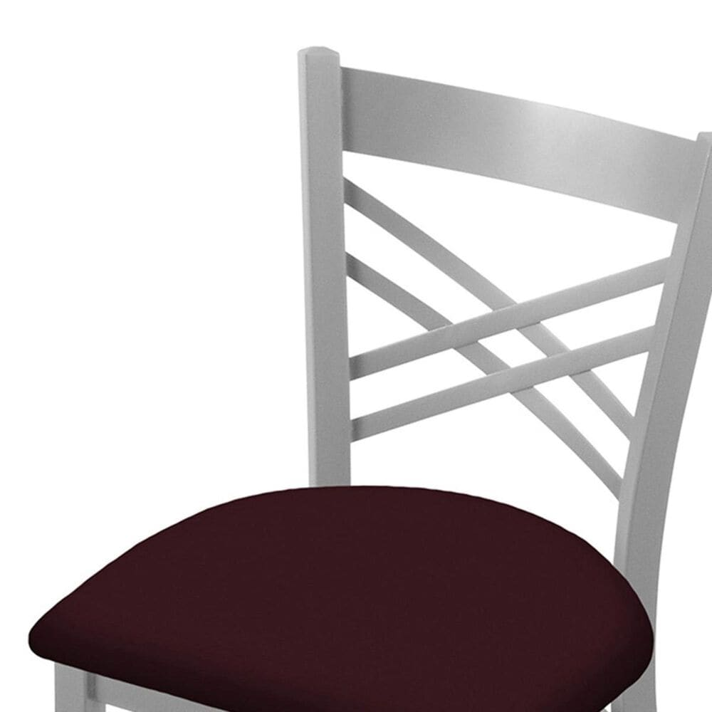 """Holland Bar Stool 620 Catalina 18"""" Chair with Anodized Nickel and Canter Bordeaux Seat, , large"""